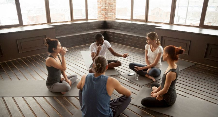 Connecting guided imagery and motivational interviewing in meditation class