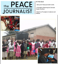 The October, 2012 edition of The Peace Journalist available for free download
