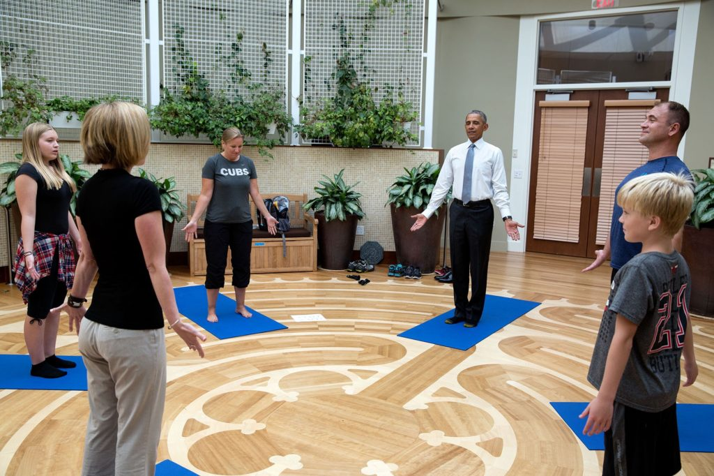 Photo of Obama with CIMHS student Allison Winters 1024x682 - My journey: How I learned to use dance/movement therapy to help military veterans