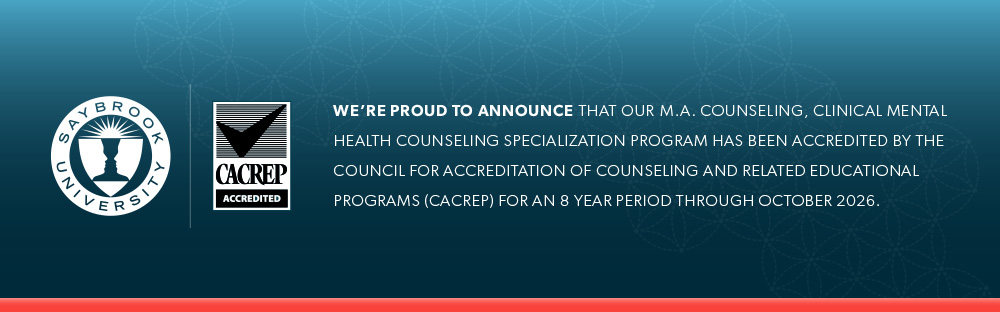 20190529 saybrook cacrep banner - M.A. Counseling, Clinical Mental Health Counseling Specialization